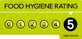Our food hygiene rating is five